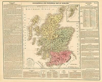 HJB-AntiqueMaps : 1821 Map of Scotland by Gros