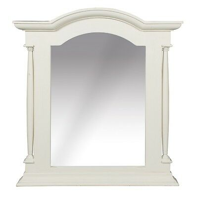 Mirror Vintage style Ornate Antique White distressed Large Wall Mirror