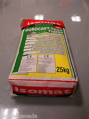 Isomat Durocret Deco Finish (25kg) - Extra-Fine Grained Microcement Coating