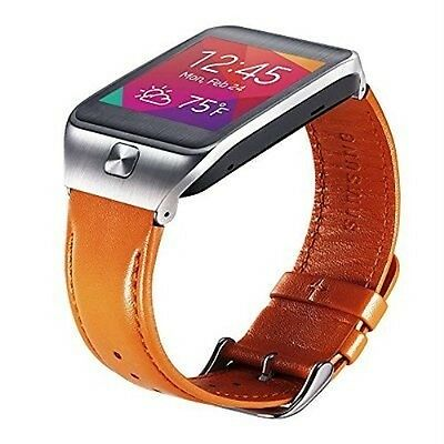 Samsung Galaxy Gear 2/Neo Replacement Strap Band Orange Genuine Leather