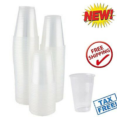 100 Disposable Clear Plastic Cups 7 oz Birthday Wedding Party Glasses Drinking
