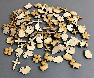 A18 20mm Easter Laser Cut MDF Scrapbook Embellishments Wooden Craft Shape