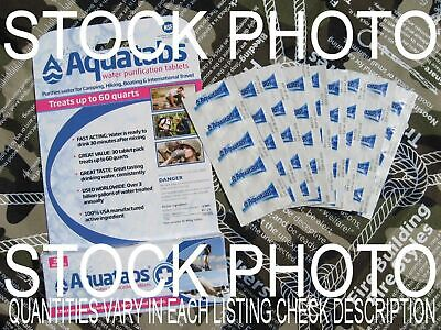 AQUATABS GERMICIDAL WATER PURIFICATION TABLETS- Freshest Exp Date: 10/24
