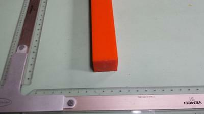 "1-1/2"" x 1-1/2"" X 28""  URETHANE / POLYURETHANE 80 A ORANGE BAR P/N 11454"