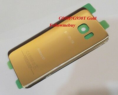 Generic Battery Glass Back Door Cover For Samsung Galaxy S7 G930T T-Mobile Gold