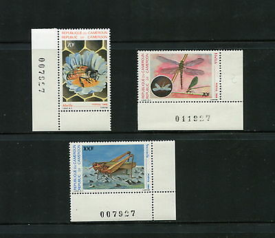Cameroun  1986  #807-9  insects grasshopper    3v.  MNH   G689