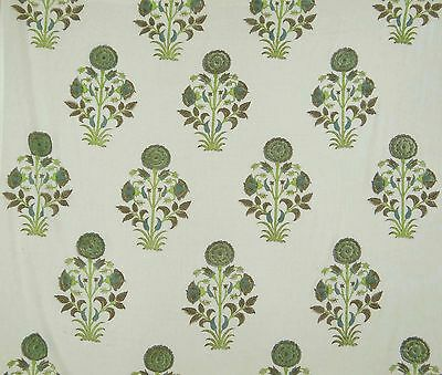Cotton Voile Fabric Supply Indian Sewing Hand Block Print Craft By The Yard