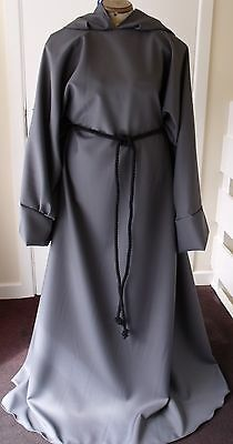 DARK GREY ROBE/PAGAN/JEDI/WIZARD/LARP/HALLOWEEN/fancy dress/Gandalf