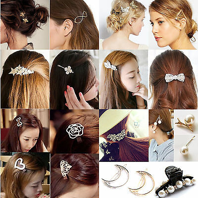 Be 35 Styles Diamante Crystal Rhinestone Flower Barrette Hair Clip Clamp Hairpin