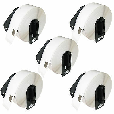 5 PACK COMPATIBLE BROTHER DK-11201 29mm x 90mm 400 LABEL ROLL P-TOUCH ETIKETTES