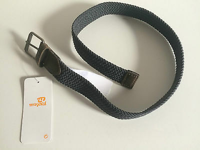 Mayoral Boys Grey Elastric Fabric and Leather Belt (Various Sizes see listing)