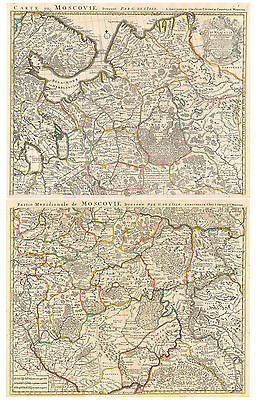 HJB-AntiqueMaps : 1740 Map of Russia by De L'Isle