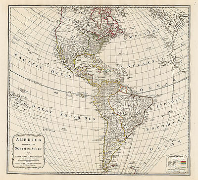 HJB-AntiqueMaps : Map of the Western Hemisphere by Laurie & Whittle