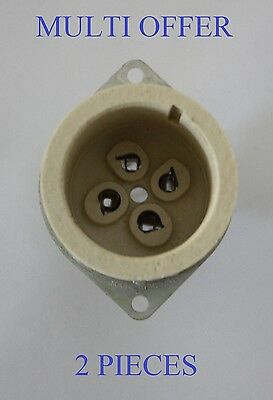 Ux4 Chassis Sockets  Soc43.usa.sc Valves / Tubes 2 Pieces