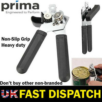 Very Heavy Duty Stainless Steel Can Tin Opener With Easy Comfy Grip Free Postage