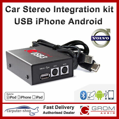 GROM Audio USB MP3 iPhone Android adapter kit VOLVO S60 S70 V70 S80 S40 XC70 HU