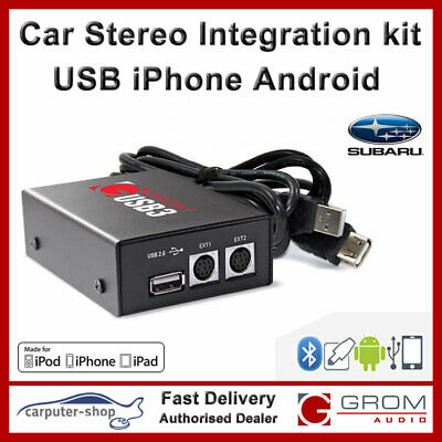 Grom USB MP3 iPhone Android adapter kit - Subaru IMPREZA LEGACY OUTBACK TRIBECA