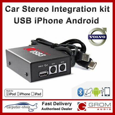 GROM USB MP3 adapter iPhone Android kit for VOLVO All models 1994-2k +C70 SC-xxx