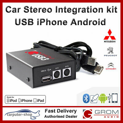 GROM USB iPhone Android Integration kit for CITROEN CROS PEUGEOT 4007 4008 #MIT8