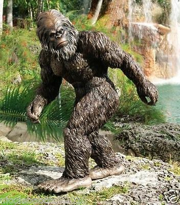 UNIQUE BIGFOOT SCULPTURE - Swamp Beast Yeti Statue DECOR