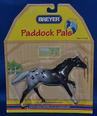Breyer~2005-06~Paddock Pals~Sport Horse~Black Appaloosa Thoroughbred Stallion!