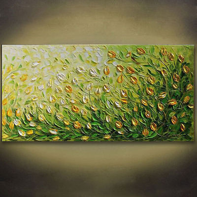 Huge Modern Abstract Art Hand-painted Oil Painting On canvas Wall Deco,Flowers