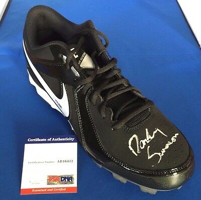 Dansby Swanson Signed Autographed Nike Cleat Atlanta Braves PSA
