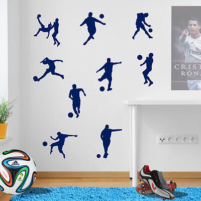 Football Stickers Footy Ball Footballer Kids Removable Children Room Decal A13