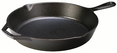 Lodge 30.48 cm / 12 inch Pre-Seasoned Cast Iron Round Skillet / Frying Pan