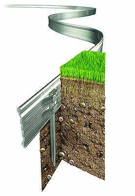 New Rite Edge 4.9M Value Pack Flexible Lawn Edging Aluminium Strong With Pins