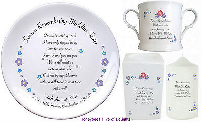 PERSONALISED Forget Me Not Rememberance MEMORIAL Ideas for The Loss of Your