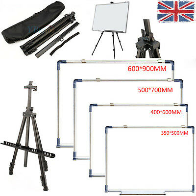 Artist Field Studio Painting Easel Tripod Stand With White Drawing Board Display