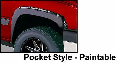 Rivet Pocket Fender Flares Chevy Silverado Suburban Avalanche Abs Set Of 4 New