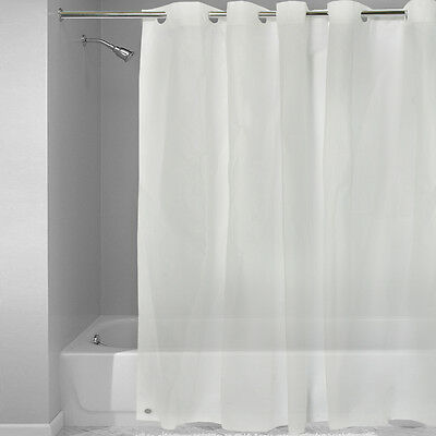 EZ On Frosted Clear EVA Plastic 72 X Hookless Shower Curtain Liner