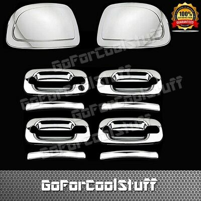 AAL 07-12 CADILLAC ESCALADE UPPER MIRROR+2DRS HANDLE W//PSGKH+GAS CHROME COVERS