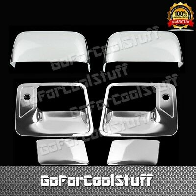 FORD 2008-2016 F-250//350 2 DOOR Handle w//o PSK+Telescopic mirror CHROME COVERS