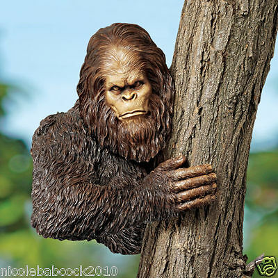 UNIQUE BIGFOOT SCULPTURE - Swamp Beast Tree Decor Highly Detailed