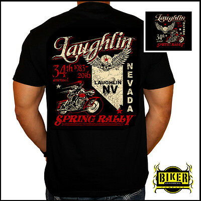 Official Laughlin River Run 2016 State Skull T-Shirt (L)