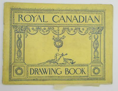 Royal Canadian Drawing Book from 1900 talented artist, 25 nice pencil drawings