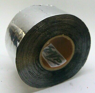 "4"" x 50' Roll of Aluminum Foil Tape with Butyl Rubber Backing 50 Mil Thick"