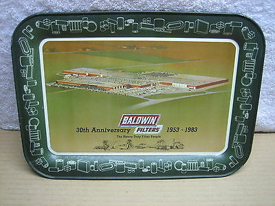 Vintage Baldwin Filters 30th Anniversary Advertising Metal Tin Tray 1953-1983
