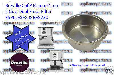 Breville Coffee Machine 2 Cup Filter ESP6 ESP8 BES230 Part ESP8C/132A IN STOCK