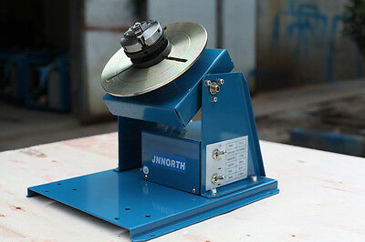 "BY-10 Rotary Welding Positioner Turntable Mini 2.5"" 3 Jaw Lathe Chuck b"