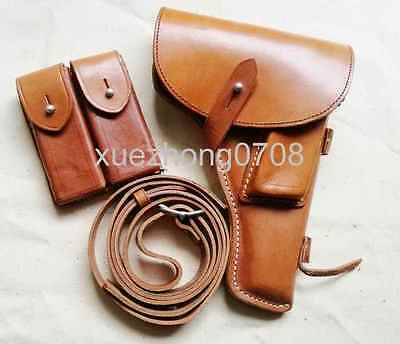 Vietnam Old Original China Military 54/type Leather Pistol Holster