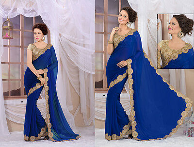 Indian Bollywood Women Saree ethinic wear Designer Pakistani Wear Saree replica