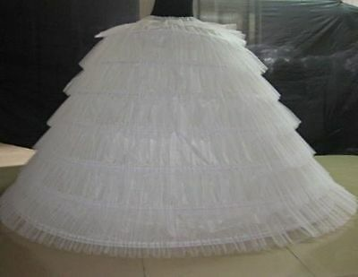 oversized White 7 hoops Wedding Crinoline Bridal Full Petticoat Prom underskirt