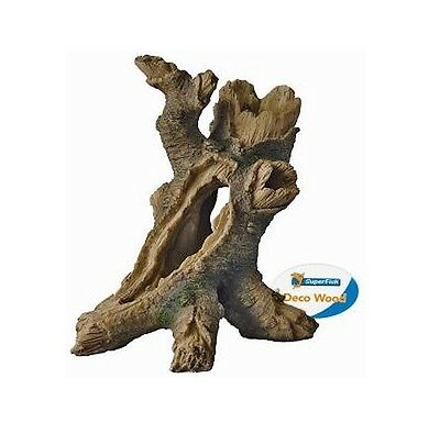 Tree Trunk Fish Cave Aquarium Ornament Fish Tank Hollow Log Wood Decoration