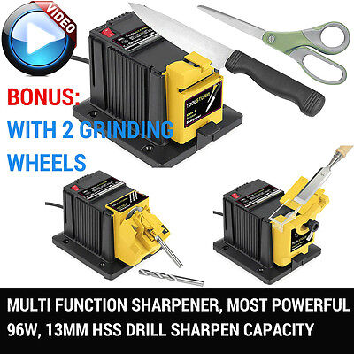 Knife Sharpener Sharp Diamond For Knife Blade Drill Bit Scissor 2Xgrinding Wheel