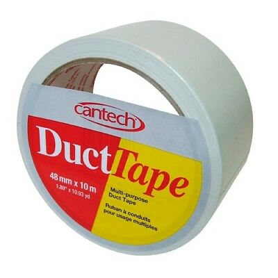 """Duct Tape,1.88""""X10.93yd White by CANTECH INDUSTRIES, INC."""