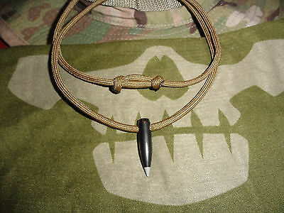 Black Hog tooth Scout Sniper 550 cord necklace... VET Made  USA